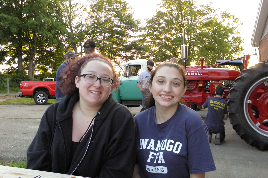 Seniors Zoey Brunelle and Valeri LeDuc described their experience restoring a tractor and learning about much more than machinery.